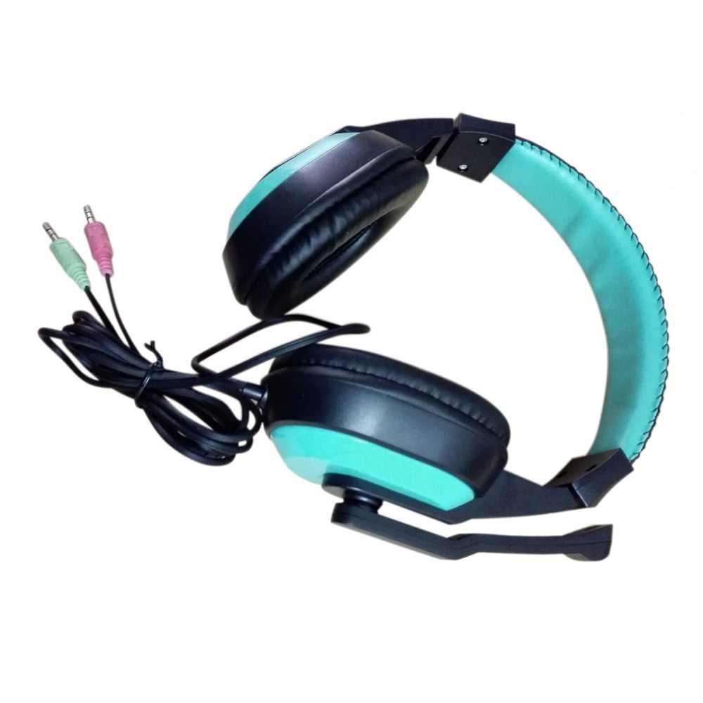 משחקי אוזניות 3.5mm מתכוונן סטריאו סוג מבטל רעשים מחשב אוזניות עם מיקרופונים למחשב גיימר