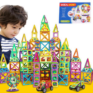 Magnetic Toys Blocks Plane Castle Construction Girl Creative Designer Children Big-Size