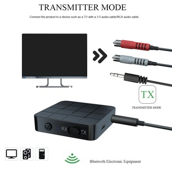 NFC Bluetooth 5.0 Receiver 3.5mm AUX RCA Jack Hifi Wireless Adapter Auto On/OFF Bluetooth 5.0 4.2 Car Audio Receiver image