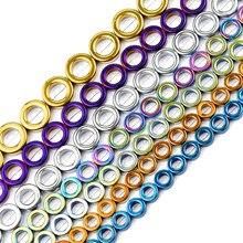 JHNBY blu, oro, viola, verde, ematite a forma di cerchio 8/10/12/14mm perline sciolte distanziatore in pietra naturale per gioielli che fanno braccialetto fai da te