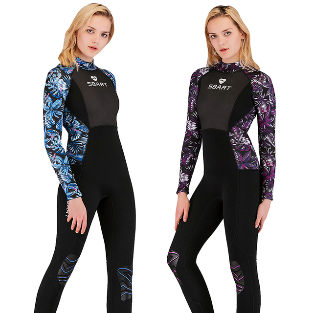 Woman's Full Body Wetsuit, 3mm Men Neoprene Long Sleeves Dive Suit – Perfect For Swimming/Scuba Diving/Snorkeling/Surfing