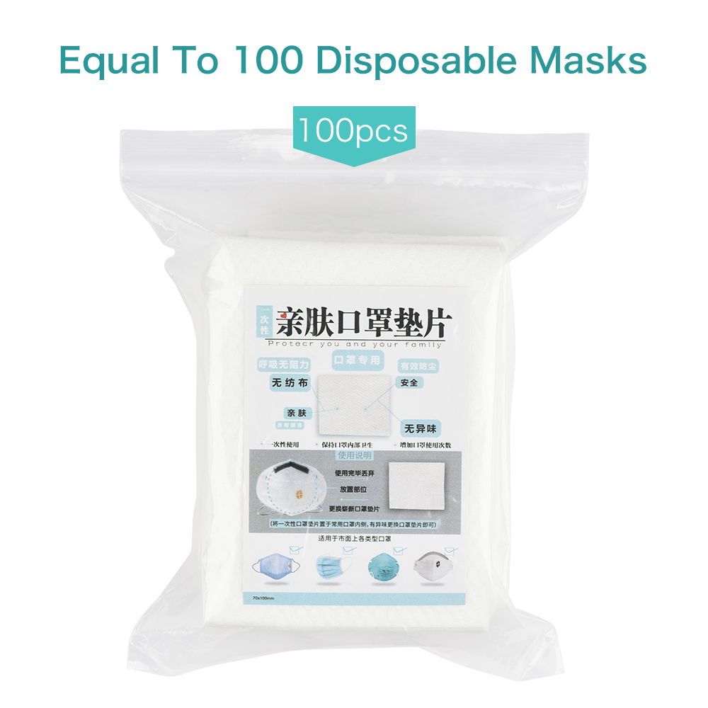 100pcs/Pack Disposable Masks Gasket Anti-haze Filter Square Dust-proof Breathable Safe Health Mouth Face Masks Cotton Pad Mat