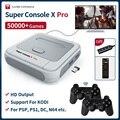 Супер консоль X Pro S905X HD WiFi выход мини ТВ Видео игровой плеер для PSP/PS1/N64/DC игры двойная система встроенные 50000 + игр