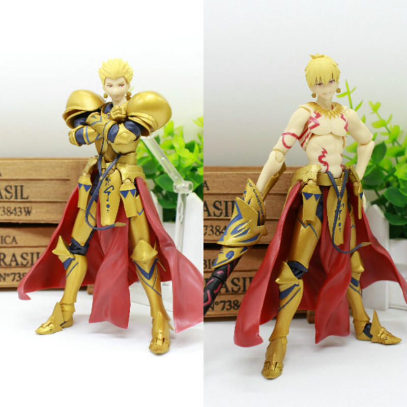 6'' Japan Anime Action Figure Fate/stay Night Grand Order Gilgamesh Figma 300# Fate Archer PVC Model Collection Doll Gift 15cm