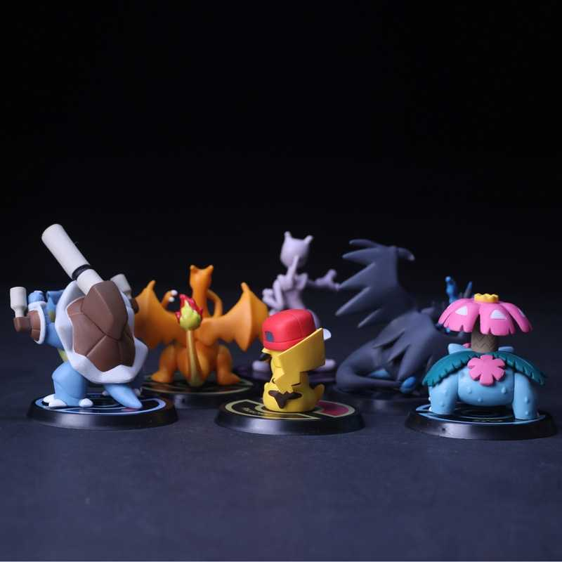 Takara Tomy Pokemon 8th Generatie 5-8 Cm Pikachu Venusaur Blastoise Charizard Mewtwo Anime Mould Hot Poppen Speelgoed Voor kids