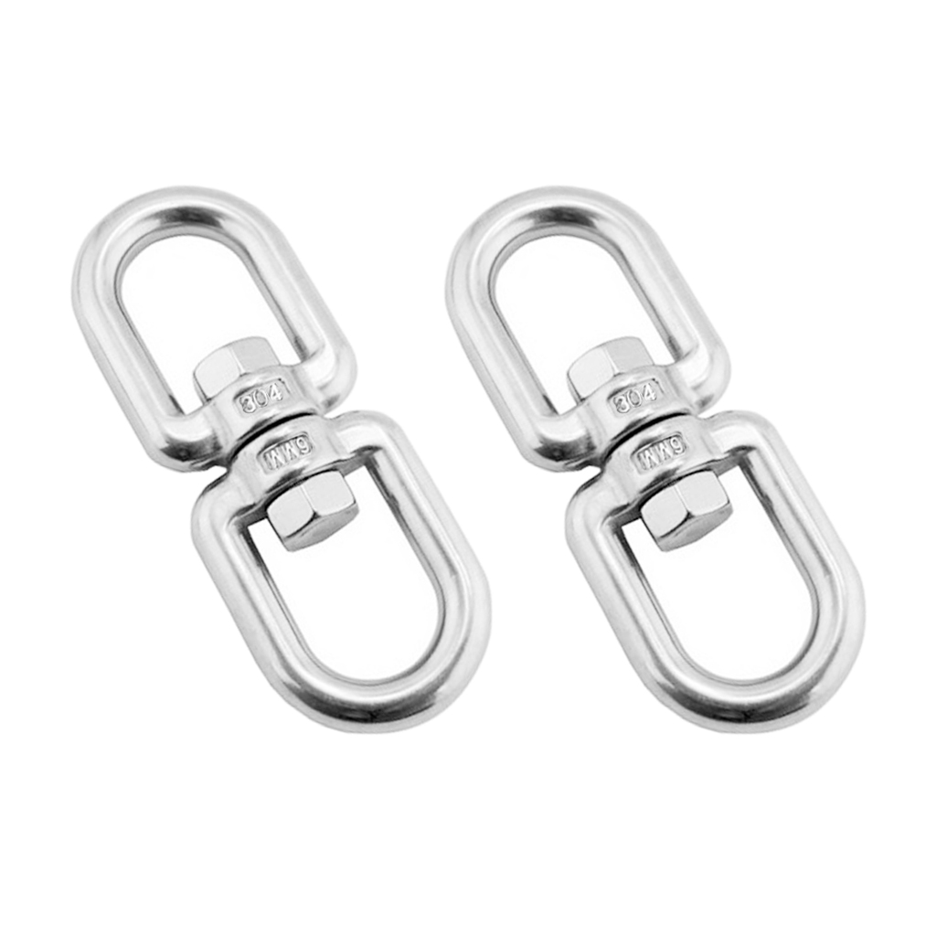 2 Pieces 304 Marine Grade Stainless Steel Chain Anchor Swivel Jaw - Silver