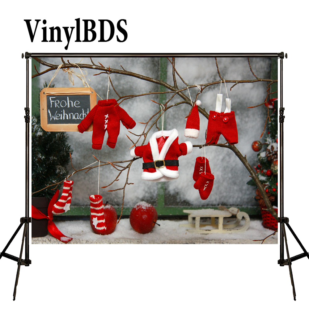 VinylBDS Backdrops Photography Christmas background photo red Clothing Children'S Photocall  Photo Backgrounds for studio|christmas background|photo background|background for studio - title=