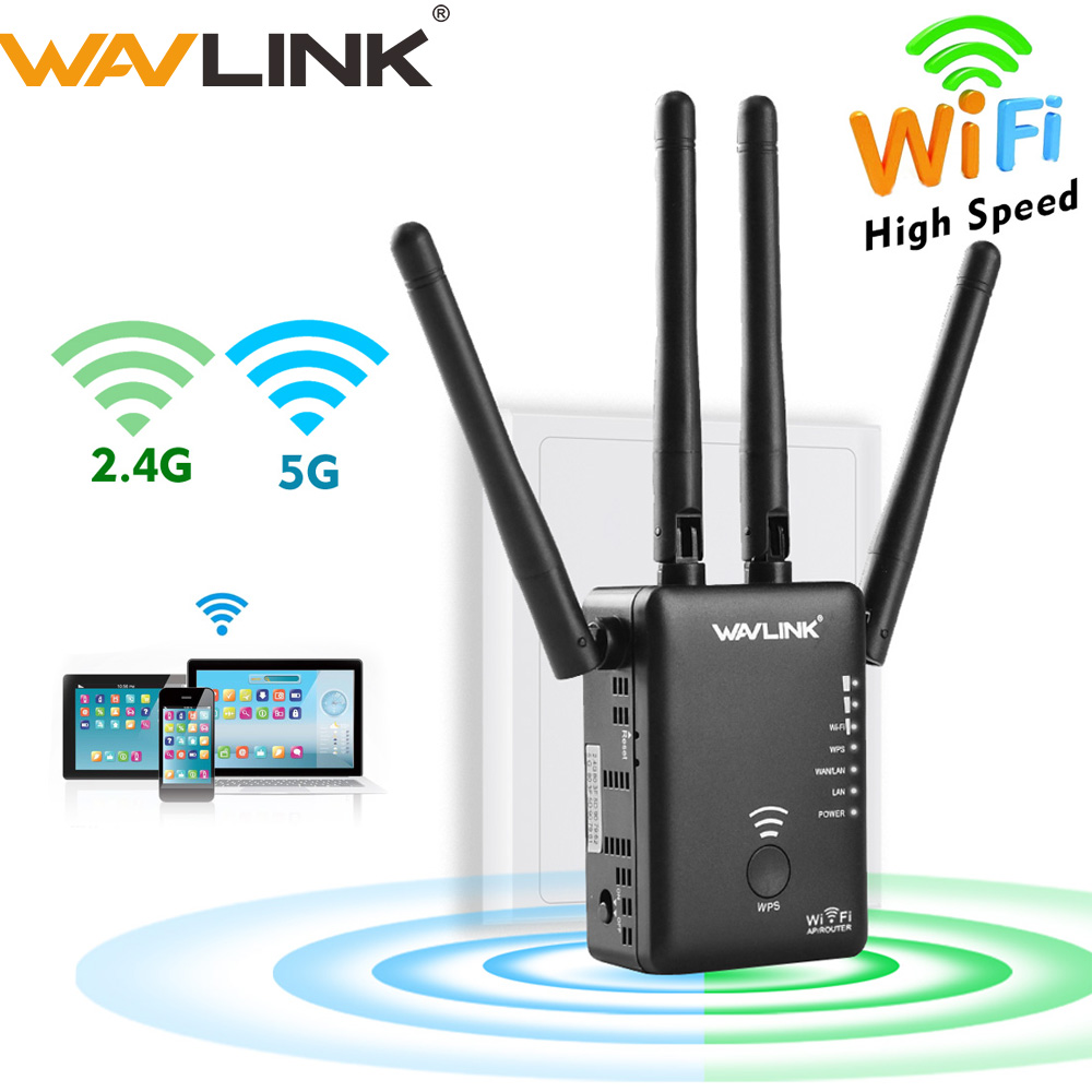 Wavlink wifi Repeater 5ghz 750 1200mbps Wireless Router Dual band 2 4Ghz Access point long signal amplifier Wi-Fi Range Extender