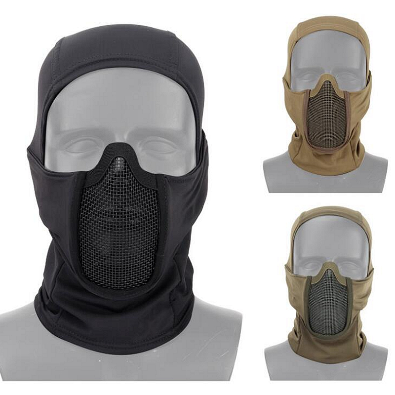 Tactical Hunting Mask Breathable Protective Shooting Airsoft Paintball Headgear Masks Wear Resistant Military CS Wargame Masks