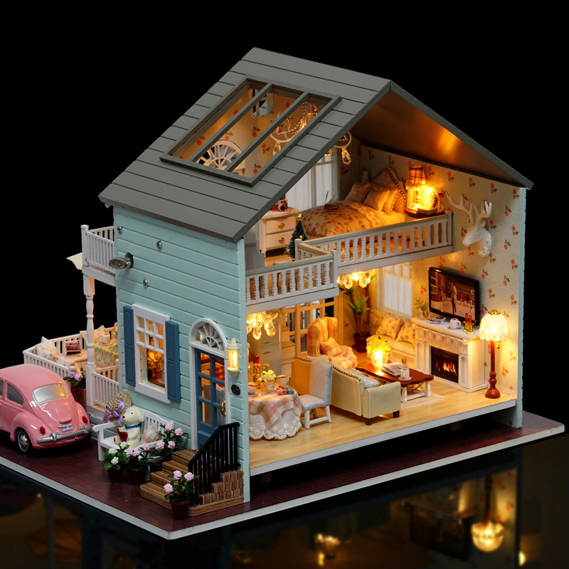 DIY For Making Adult Cabin Creative Handmade Women's Villa House Assembled Model Super Difficult Toy Gift