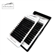 Lelis lashes faux cils individual eyelash extension lashes packaging maquillaje lashes custom logo natural eyelash extension