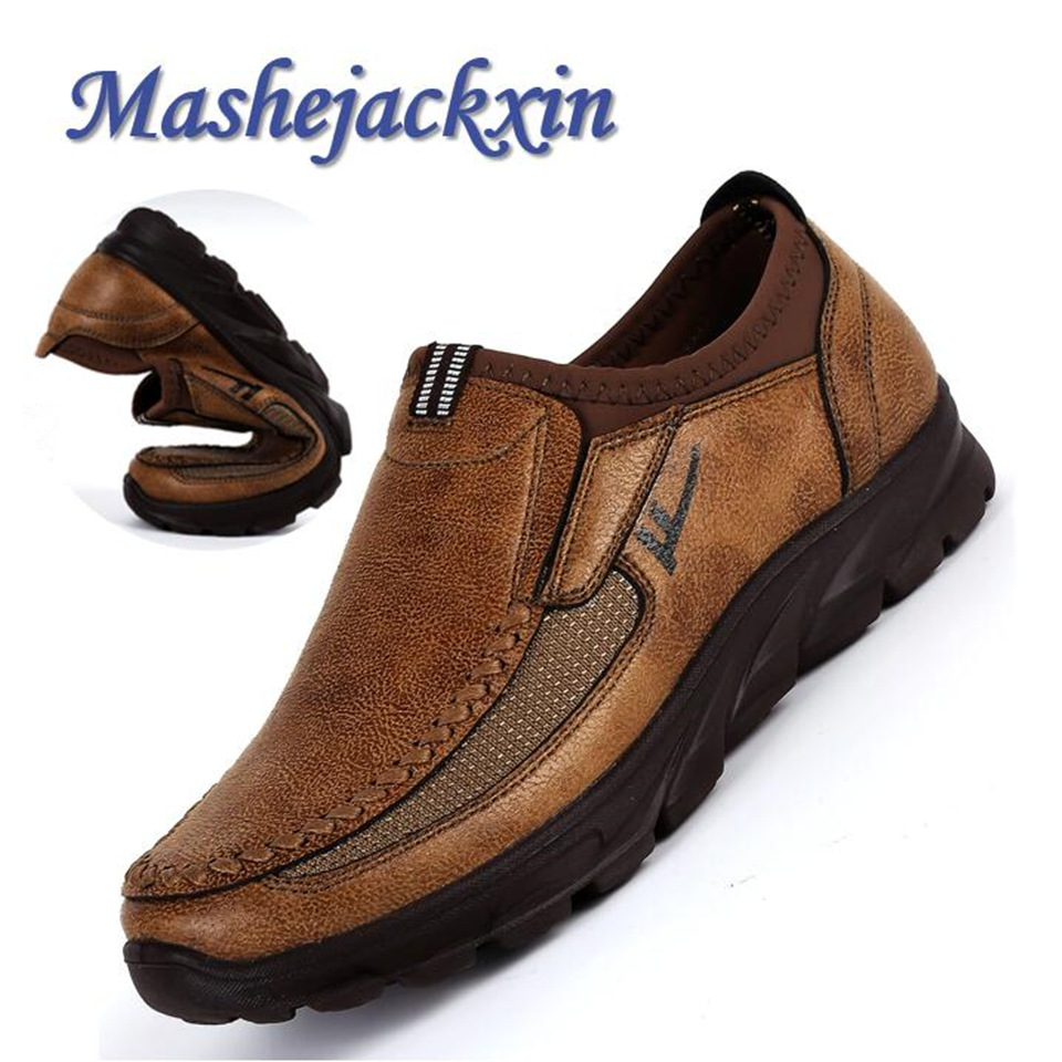 Mashejackxin Mens Moccasins Loafers Comfortable Anti Slip Durable Leather Mens Casual Shoes Breathable Zapatillas Hombre 1