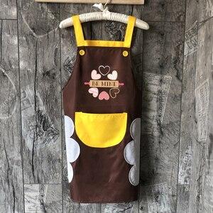 Delantal impermeable para cocina, bonito delantal con babero, toallas de lado de bolsillo para mujeres y niñas, lavables, platos, diseño de logotipo para hornear
