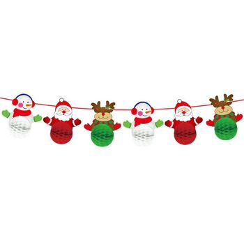 Christmas Hanging Garland Paper Door Wall Window Decoration