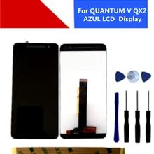 5,5 Polegada para quantum v qx2 azul display lcd assembléia sensor de vidro toque para quantum ul/positivo qx2