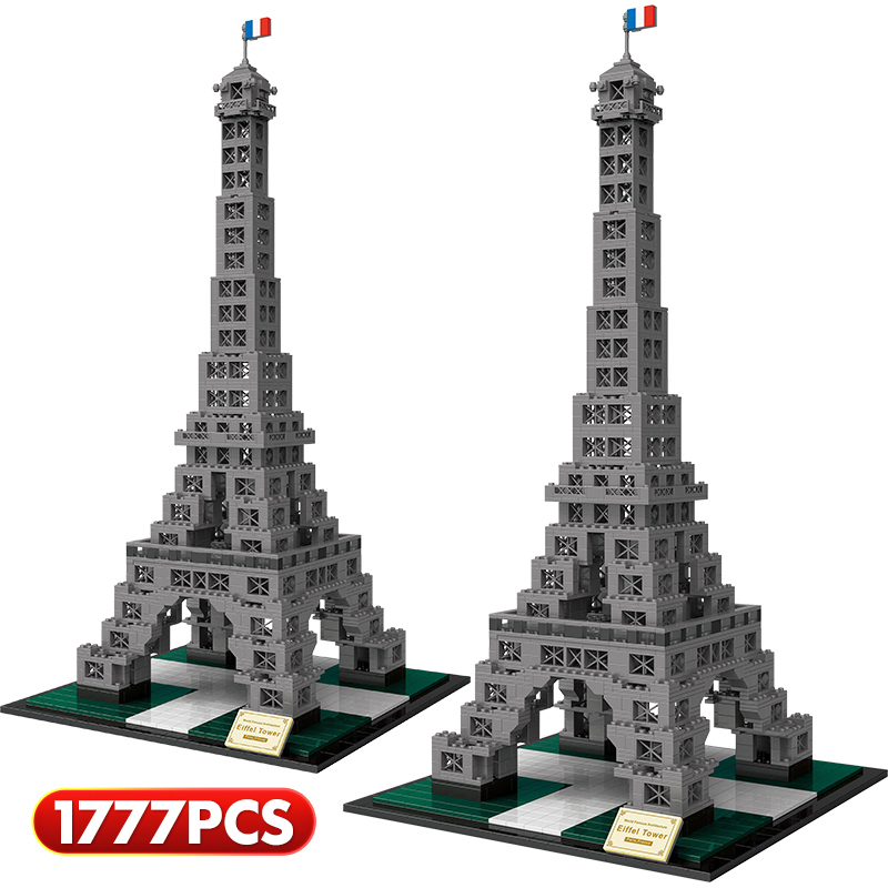 Loz Creator Famous Architecture Eiffel Tower Egyptian Pyramids London Twin Bridge Model lepining Building Blocks Bricks Toys(China)