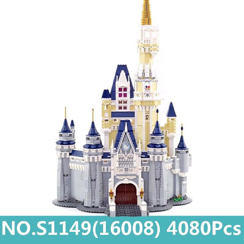 Oyuncaklar ve Hobi Ürünleri'ten Bloklar'de 16008 4160 adet Külkedisi Prenses Kalesi Şehir Yapı Taşları Arkadaşlar Film 71040 Kale Modeli Eğitici Oyuncaklar Tuğla Hediye'da  Grup 1