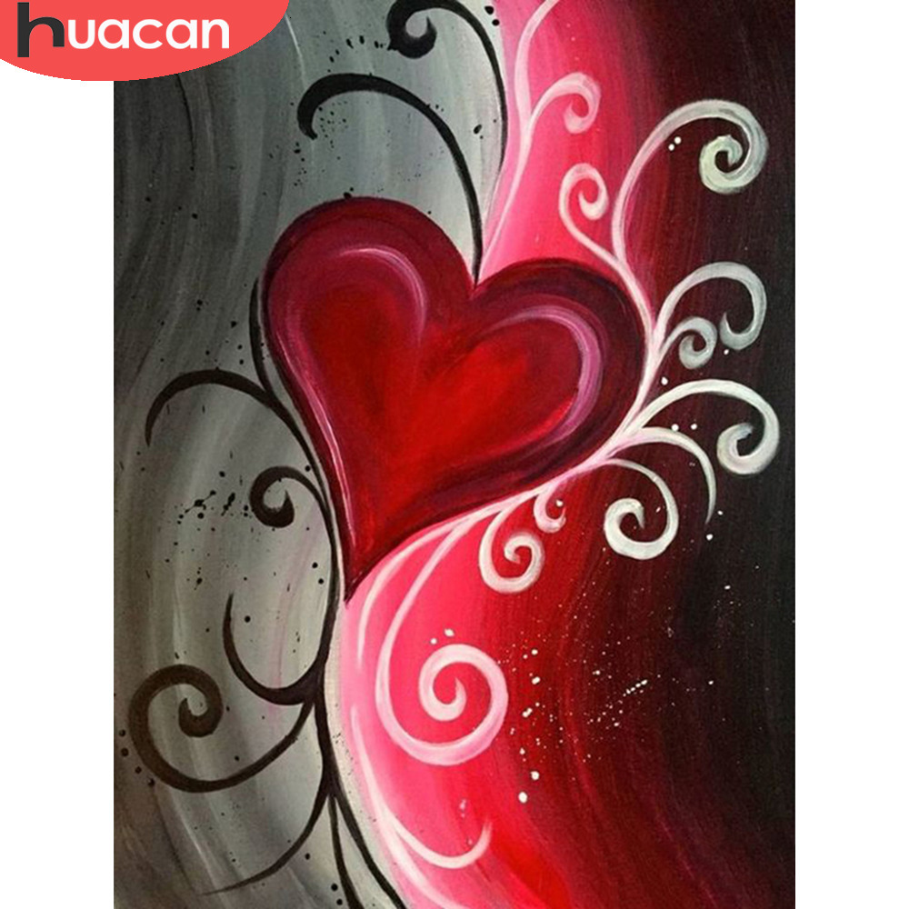 HUACAN Flowers Diamond Painting Full Square Drill Diamond Embroidery Sale Cross Stitch Home Decoration New Arrival