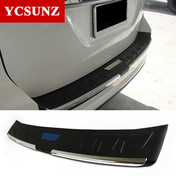 цена на Car Accessories Rear Bumper Step Protector Parts Rear Step Trim For Toyota Fortuner Hilux Sw4 2016 2017 2018 2019