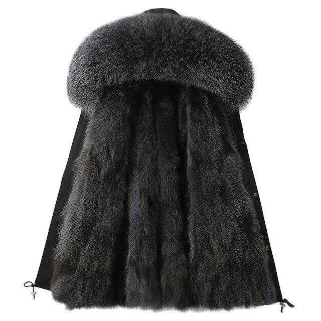 Windbreaker 2021 New Winter Real Fox Fur Coat Long Parka Men Real Rabbit Fur Liner Natural Fur Hooded Thick Warm Male Jacket 4