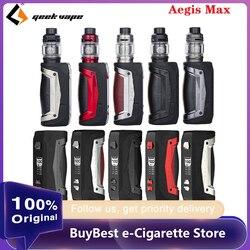 Оригинальный комплект Geekvape Aegis Max 100 Вт 21700 с 5 мл атомайзером Zeus и сетчатой катушкой Zeus 100 Вт макс. выход Электронная сигарета Vape Kit vs Drag X/Gen