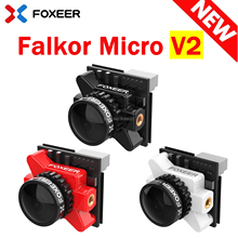 Foxeer Falkor Micro V2 1200TVL FPV 카메라 1.8mm 렌즈 GWDR OSD 전천후 마이크로 카메라 PAL/NTSC FPV RC Drone 용으로 전환 가능
