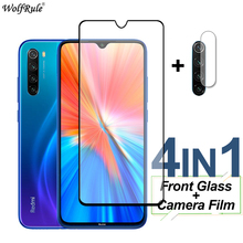 Full Cover Tempered Glass For Xiaomi Redmi Note 8 2021 10 Pro 10S 9 9S 8T Screen Protector Protective Lens Film For Redmi Note 8