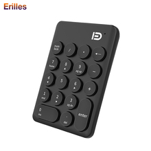 Mini Numeric Keyboard 18 Keys Bank Accounting PC Laptop USB Number Keypad Desktop 2.4G Wireless with Battery