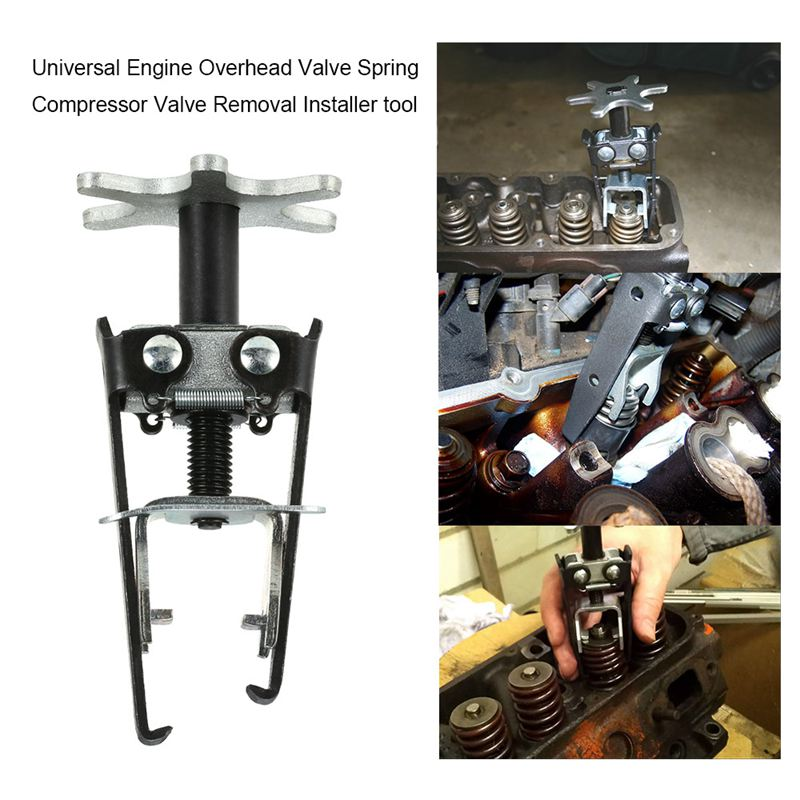 Universal Engine Overhead Valve Spring Compressor Valve Remover Installer Tool Universal Carbon Steel Auto Accessories