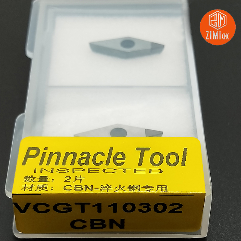 2pcs VCGT110302/ VCGT110304 PCD/CBN Cutting Aluminum Copper VCCM110302/04carbide Blade Diamond Blade CNC Lathe Cutting Tool