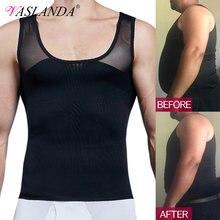 Мужская корректирующая компрессионная рубашка для похудения