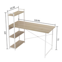 Laptop Desk Computer-Desk Bookshelf Studying Living-Room Home Office with 4-Tiers