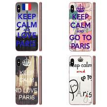 Keep Calm And Love Paris For Xiaomi Redmi 3 3S 4 4A 4X 5 6 6A 7 K20 Note 2 3 4 5 5A 6 7 Plus Pro High Quality Soft Back(China)