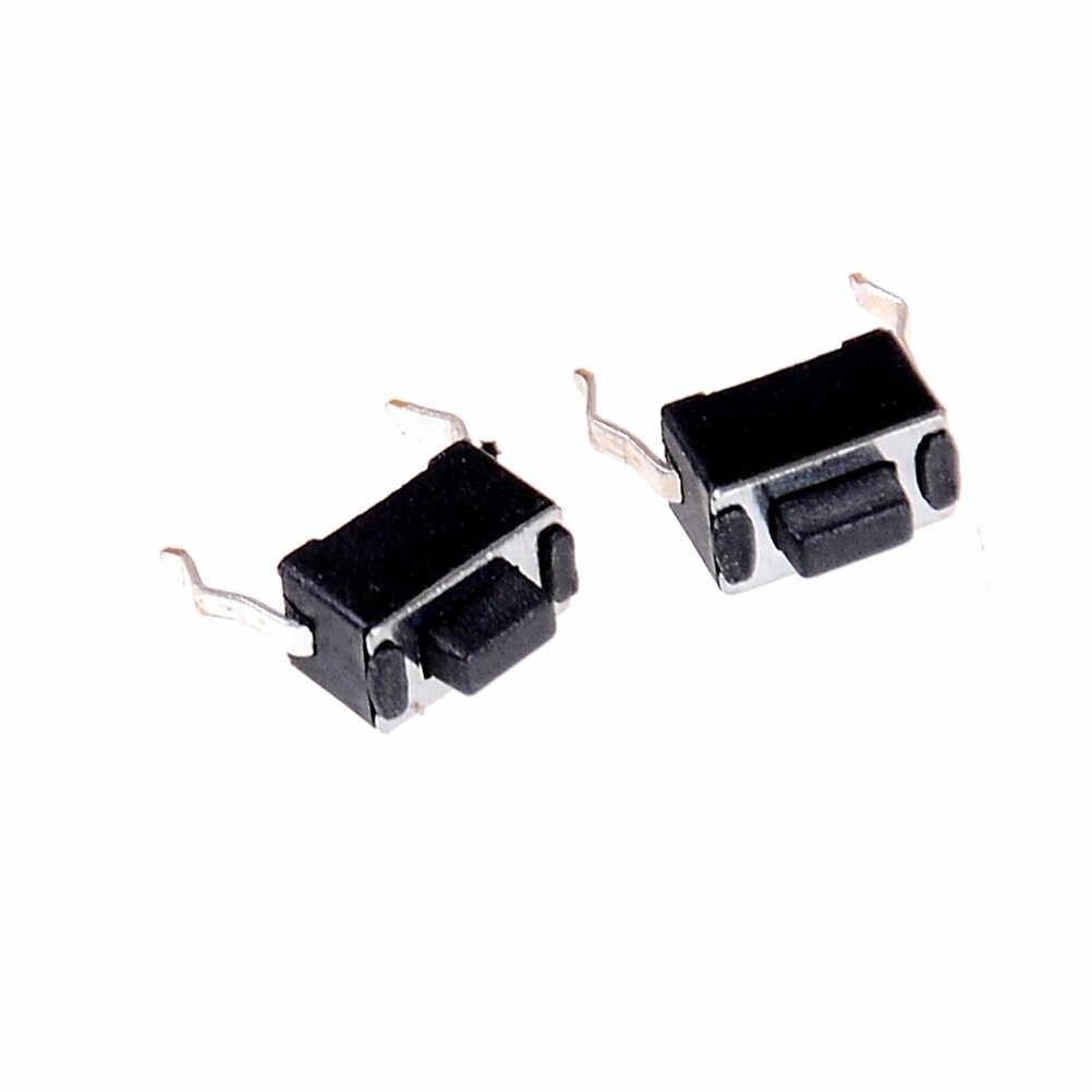 30pcs 3 * * * * * * * * 6 4.3mm 2 PIN DIP Light TOUCH คีย์บอร์ดแผง PCB Momentary Tactile TACT PUSH ปุ่มสวิทช์