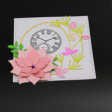 Beautiful flower border Cutting Dies for DIY Scrapbooking Decoretive Embossing Stencial DIY Decoative Cards die cutter large border punch flower knot embossing machines perfect for handmade cards craft height about 4cm 1 57inch