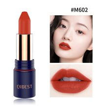 Long-lasting Non-stick Cup Waterproof Red Lip Tint Makeup Natural Matte Nude Lipstick Easy To Color Velvet Lipstick(China)
