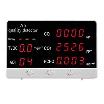 Digital Indoor/Outdoor CO/HCHO/TVOC Tester AQI CO2 Meter Air Quality Monitor Detector Multifunctional Household Gas Analyzer
