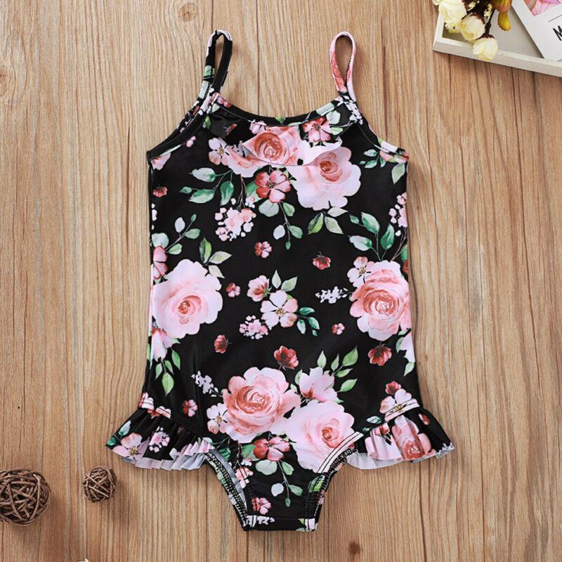 Summer Newborn Infant Baby Girls Flower Swimsuit Swimwear Bikini Swimming NEW
