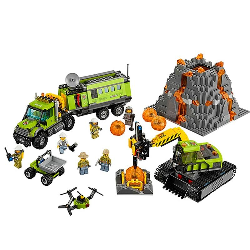 10641 City Volcano Exploration Base Construction Toy Building Blocks Bricks Compatible Model 60124