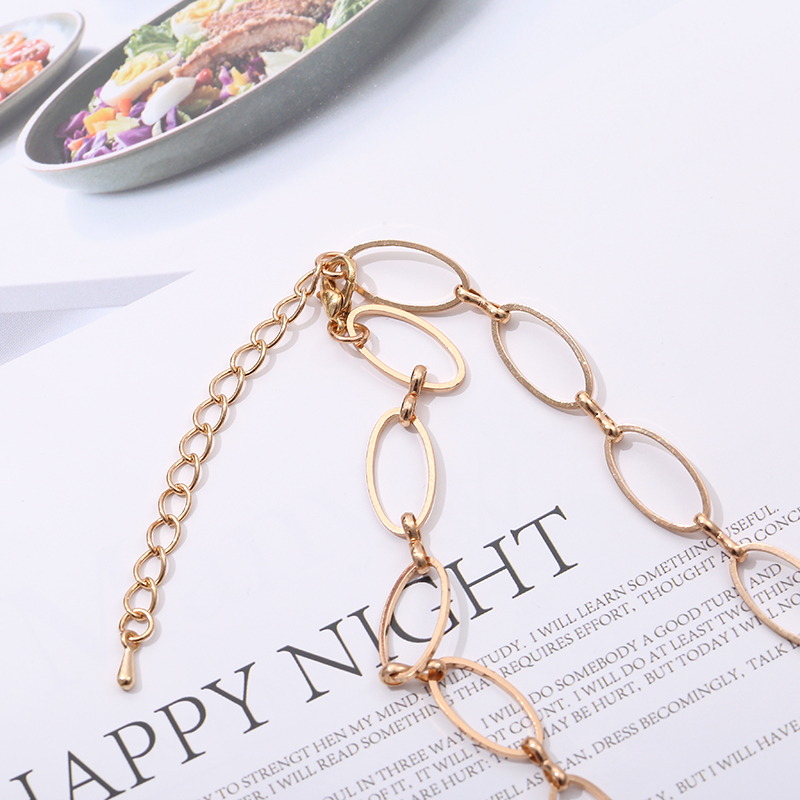 chain colarNew Fashion Jewelry Golden Hand Chain Made of Womens Necklace Delicate Party Gift