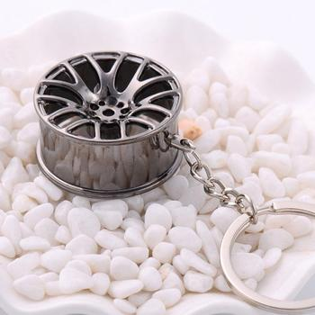 Gift Stereo Car Modification Accessories Wheel Waist Ring Advertising Ring Keychain Metal Pendant Chain H7S2 image