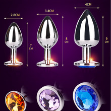 Adult games stainless steel anal plug men and women G point metal anal masturbation sex toys for woman erotic anal plug tail(China)
