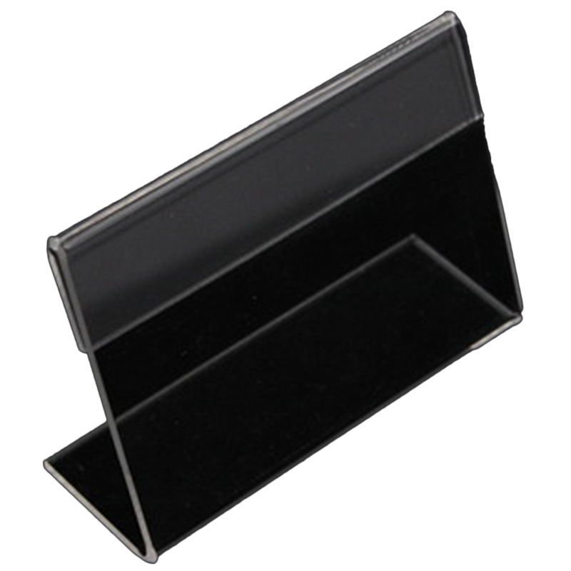 20 Acrylic Business Card Holder L Shaped Transparent Acrylic Table Price Tag Label Display Paper Table Sign Shelf Photo Frame   - title=