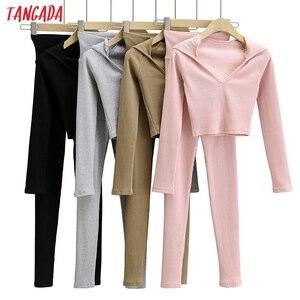 Tangada 2020 women's sets hood strethy tops shorts set suit 2 piece set shirt and shorts home set high quality 4P13