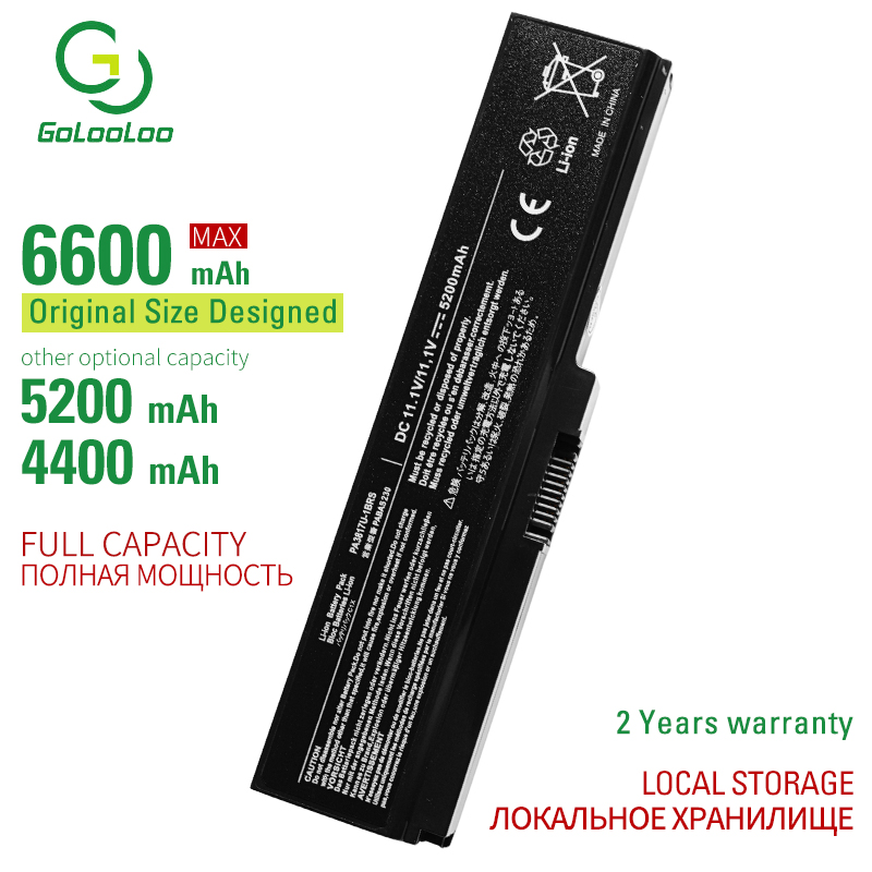 6600MAh PA3817U-1BRS Laptop Battery For Toshiba Satellite A660 C640 C650 C655 C660 L510 L630 L640 L650 U400 L645 L655 L700 L730