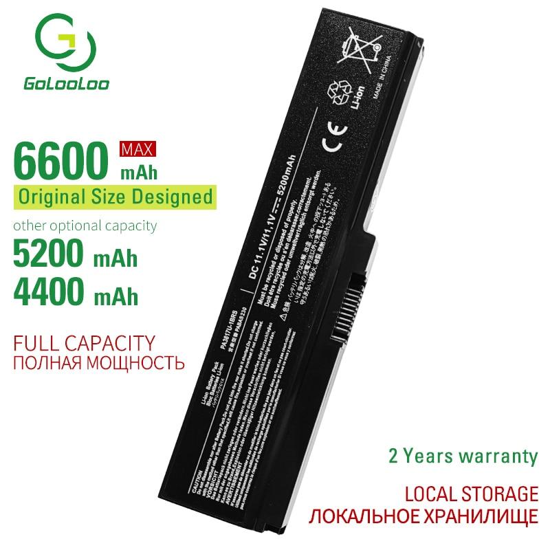 6600MAh PA3817U-1BRS Laptop Battery For Toshiba Satellite A660 C640 C650 C655 C660 L510 L630 L640 L650 U400 L645 L655 L700 L730