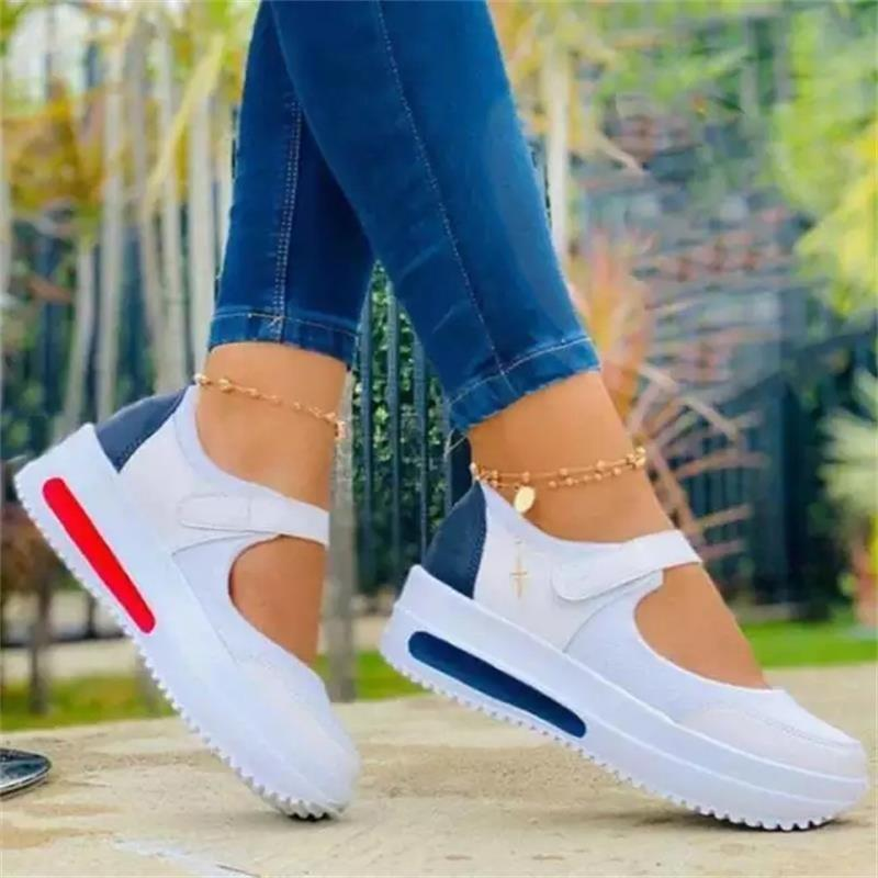 New Women Sneakers Lace-Up Platform Sports Shoes for Women Breathable Ladies Sneakers Leopard Print Women's Vulcanize Shoes