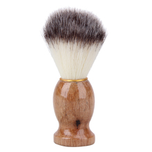 Shaving-Brush Cosmetics-Tool Wooden-Handle with Pure-Nylon for Men Face Cleaning 1pcs