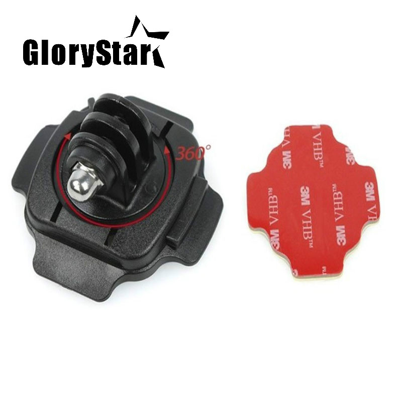360 Motorcycle Helmet Rotary Adhesive Base Mounts For GoPro 8 7 6 5 3 Session SJ4000 Xiaomi Yi 4K Eken Action Camera Accessories