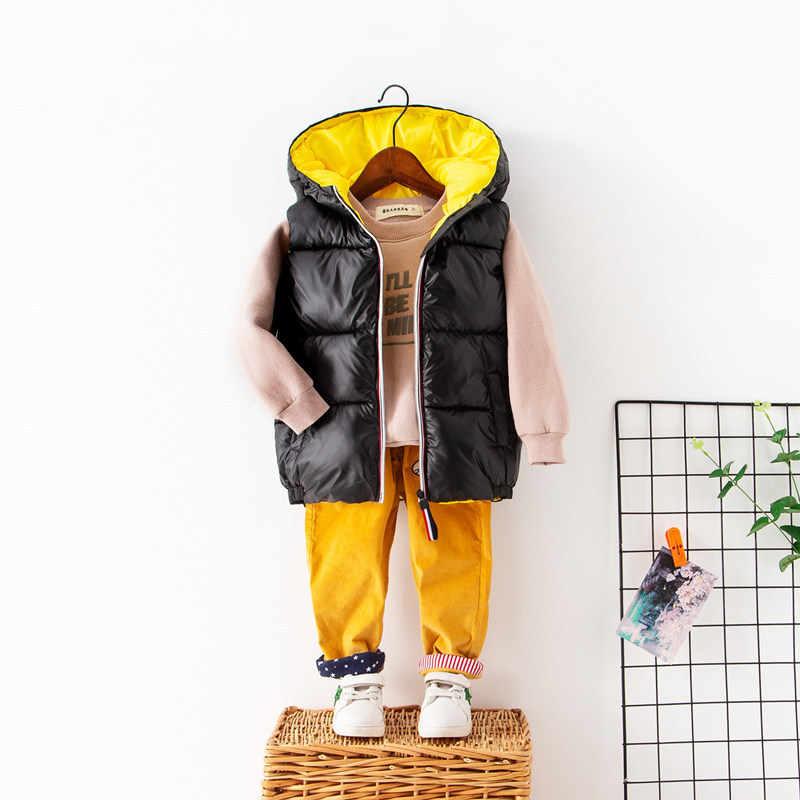 OLEKID Sonbahar Kış Çocuk Yelek Kapşonlu Su Geçirmez Yelek Erkekler Için 2-7 Yıl Kız Bebek Erkek Yelek Çocuk Kız yelek Giyim Ceket